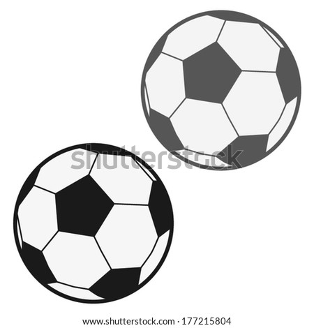 FOOTBALL BALL illustration vector - stock vector