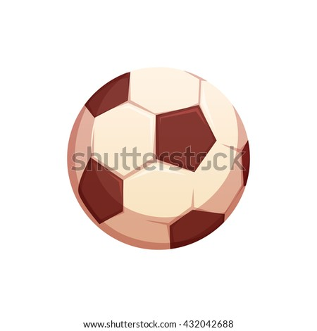 Football ball isolated on white background. Vector illustration