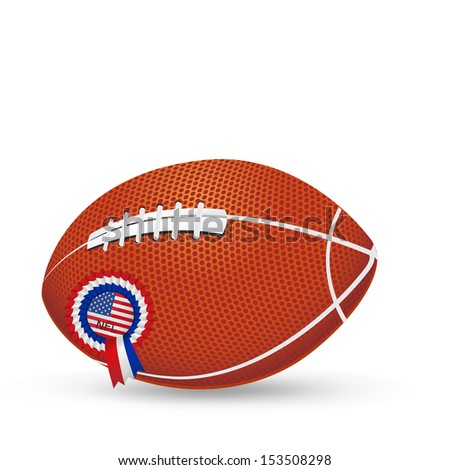 Football Ball with USA insignia isolated in white - stock vector