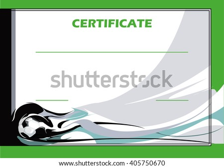 Football certificate - stock vector