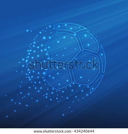 Football championship background. Vector illustration of abstract soccer ball for your design - stock vector