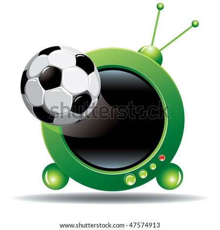 football channel icon - stock vector
