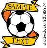 football club (soccer) symbol, emblem, design - stock photo