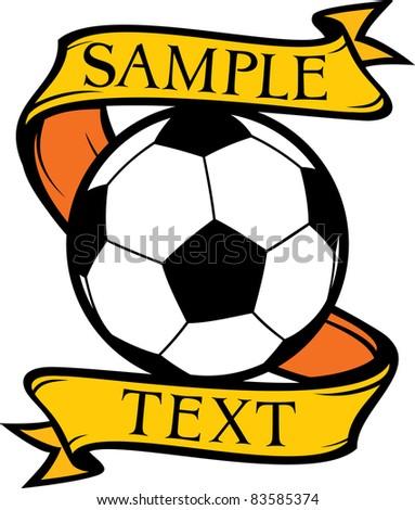 football club (soccer) symbol, emblem, design - stock vector