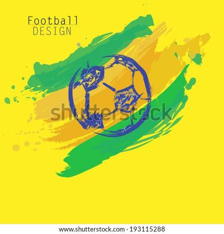 Football design - stock vector