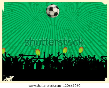 football fans crowd