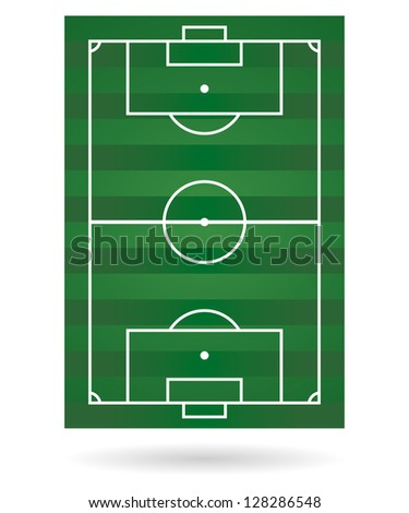 Football field background. vector. - stock vector