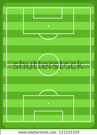 Football Field Diagram White Lines Green Stock Vector Royalty Free