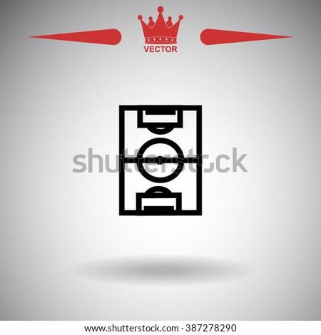 Football field pitch. Football field icon. Football field icon vector. Football field icon illustration. Football field icon web Football field icon Eps10 Football field icon image Football field logo - stock vector