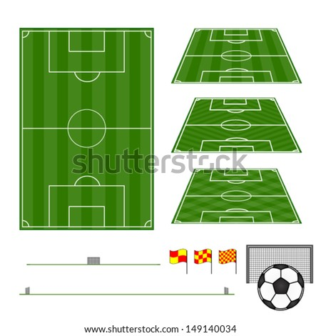 Football Fields Vertical and Diagonal Patterns - stock vector