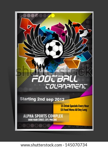 football flyer design - stock vector