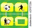 Football folders - stock vector
