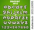 Football font - stock vector
