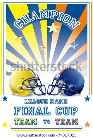 football game poster team vs team withe & black - stock vector