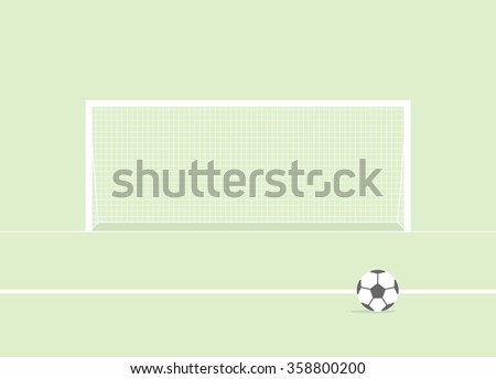 Football gate - stock vector