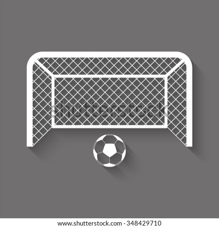 football gates vector icon with shadow