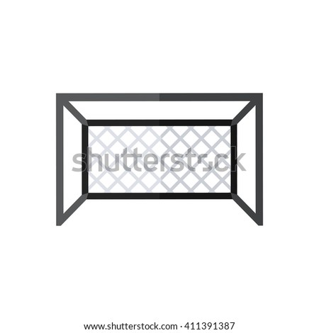 Football goal silhouette.Vector Soccer goal icon in flat style isolated on a white background