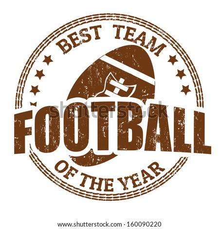 Football grunge rubber stamp on white, vector illustration - stock vector