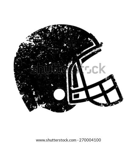 Football Helmet Vector Icon - stock vector