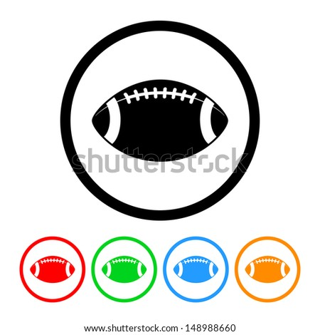 Football Icon with Four Color Variations - stock vector