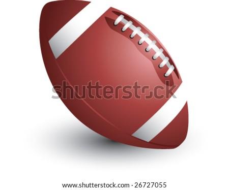 football isolated - stock vector