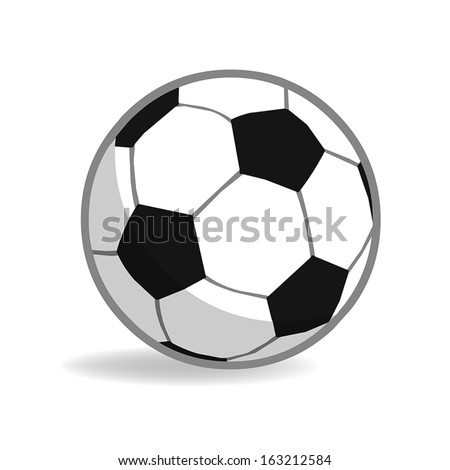 football isolated illustration on white background - stock vector