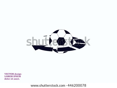 Football isolated on a white icon