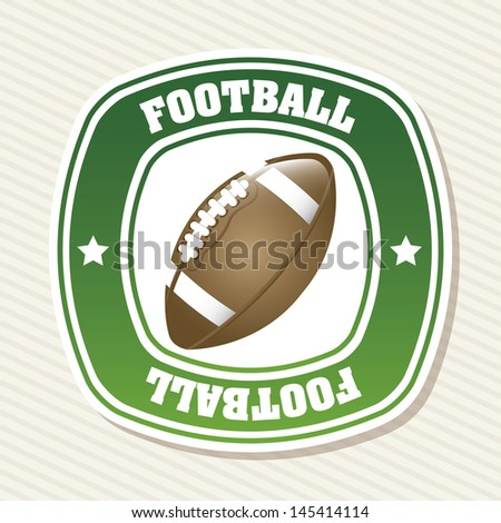 football label over white background vector illustration