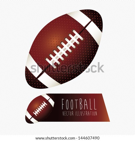 football labels over white background vector illustration - stock vector
