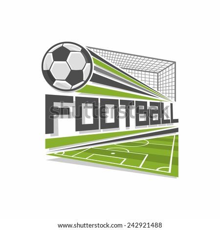 Football logo - stock vector