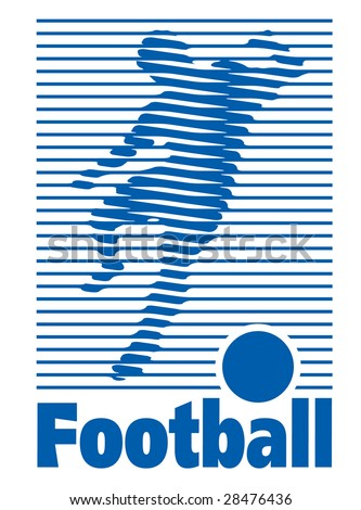 football logo - stock vector