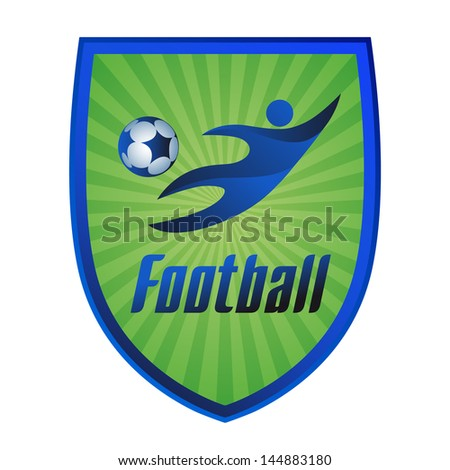 football logo icon, vector illustration - stock vector