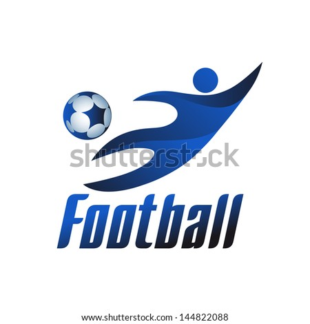 football logo icons, vector illustration - stock vector