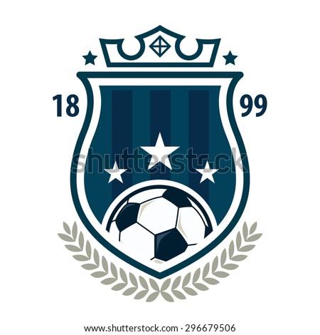 football logo template designsoccer teamvector illustration stock
