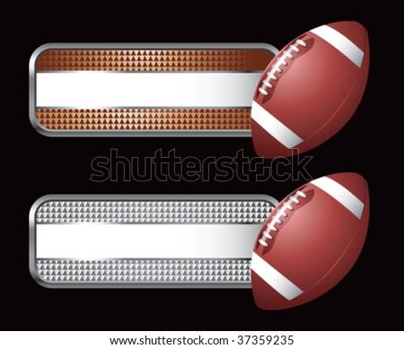 football on diamond checkered banners - stock vector