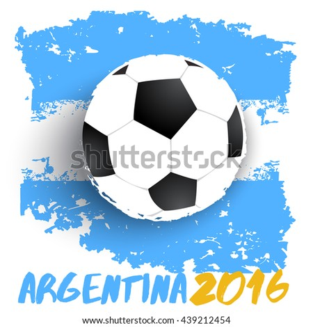 Football On Grunge Flag Background : Vector Illustration