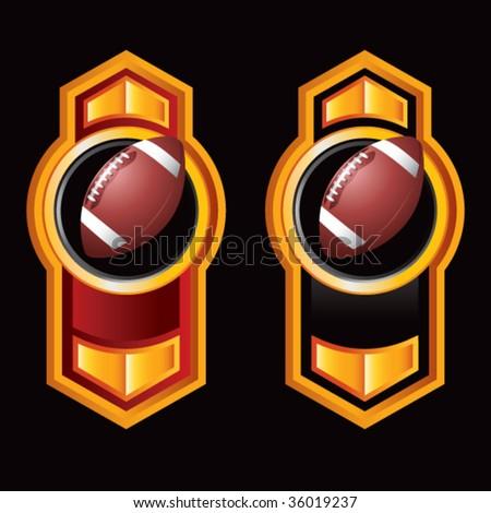 football on royal style displays - stock vector