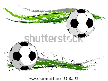Football on the green abstract - stock vector