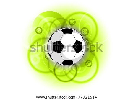 football on the green background - stock vector