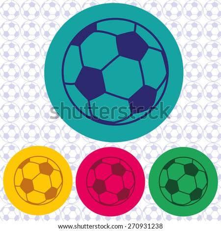 Football or soccer ball icon - stock vector
