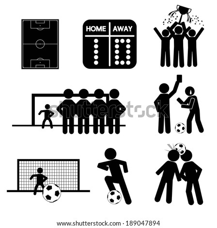Football or Soccer Icons - stock vector