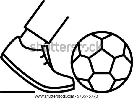 football outline icon - Football Outline