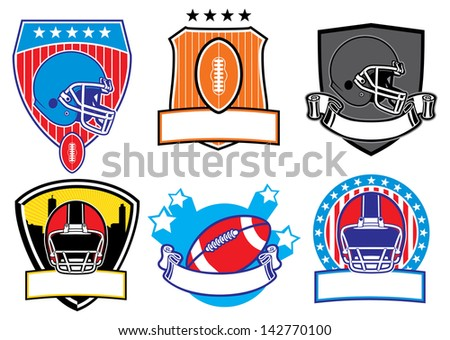 football patch - stock vector