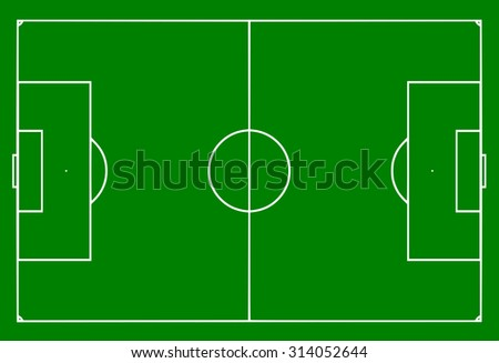 Football pitch vector - stock vector