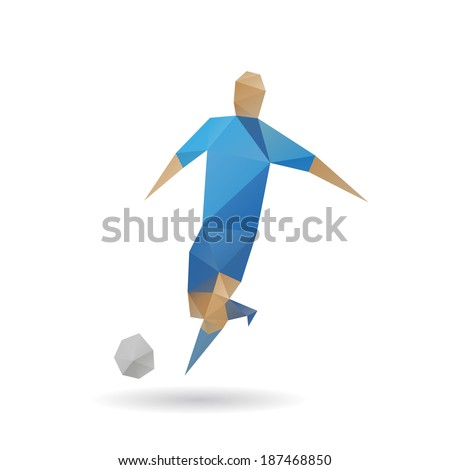 Football player abstract isolated on a white background - stock vector