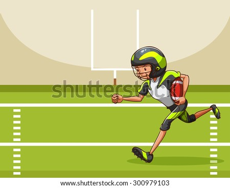 Football player running in the field