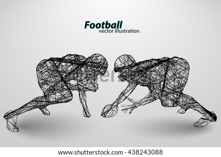 football player silhouette.  - stock vector