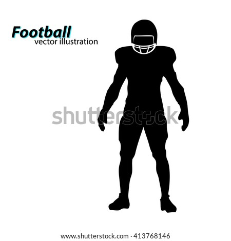 football player silhouette text on a separate layer color can be changed in one