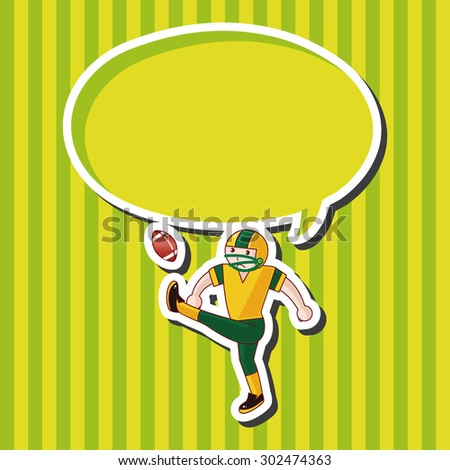football player theme elements vector,eps