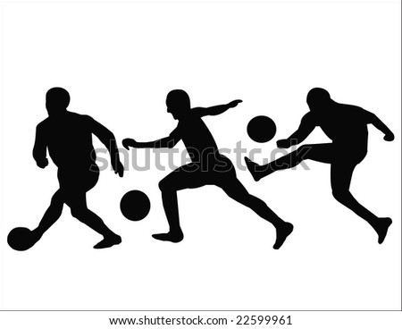 football players - stock vector